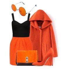 Orange & Black by leylabella