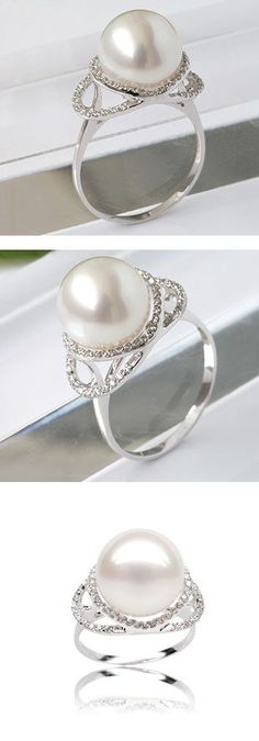 """If I ever get married I've decided I'd want a pearl wedding/engagement ring for several reasons. 1) It doesn't play into the global diamond racket and all of the violence that often accompanies it 2) they are hella less expensive leaving more resources to start our lives with 3) I love that they are from something hard and painful that has been made into something beautiful, I love that symbology and identify with it 4) my name means """"pearl of the sea"""" 5) my grandmother's name was"""