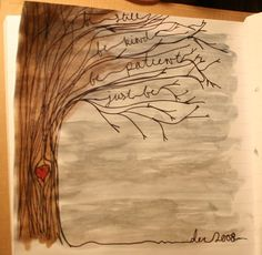 "Prompt for this page was the word ""woods"" - excellent result  :-)   . . . .   ღTrish W ~ http://www.pinterest.com/trishw/  . . . .  #art #journal"