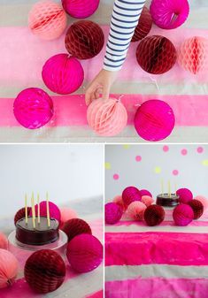 Striped Tablecloth DIY   Oh Happy Day!