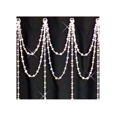 Shower Curtain Bling Iridescent Crystal Double Swag with Vertical Strands.  via Etsy.