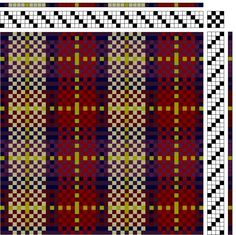 Gathering plaid 4 harness 4 treadle