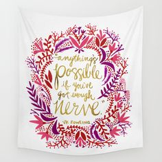 Anything's Possible – Gold & Red Wall Tapestry by Cat Coquillette - $39.00