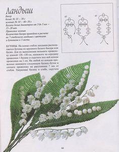 Коллекция бесплатных схем изделий из бисера. . Флора. . Здесь представлены деревья, цветы из бисера...: