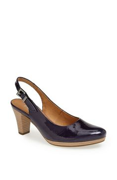 Gabor blue Patent Leather Slingback Pump available at #Nordstrom