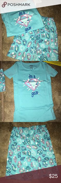 Gymboree Pajamas NWT Top and bottoms. 100% cotton. Elastic waist on pj bottoms. Set comes in manufacture plastic bag although it has been open to take photos. Gymboree Pajamas Pajama Sets