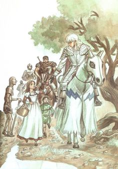 BERSERK (Kentaro Miura), Guts, Griffith, Riding, Walking, Horse