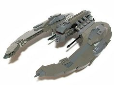 LEGO Cylon Raider! Really cool, but we're starting with Galactica and a few Vipers if I build this