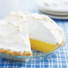 Mile High Lemon Meringue Pie. I've made many lemon meringue pie recipes. This one is the winner! My favorite way to serve it is ice cold.