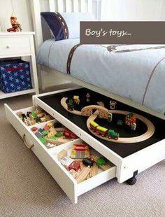 Onder bed opbergruimte