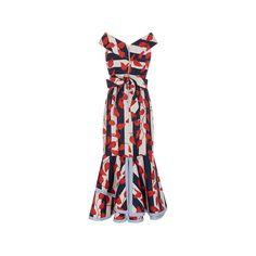 Johanna Ortiz M'O Exclusive Victoria Island Midi Dress (4.325 BRL) ❤ liked on Polyvore featuring dresses, midi day dresses, calf length dresses, midi dress, sheath dress and mid calf dresses