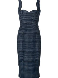 Shop Victoria Beckham fitted tweed dress in Just One Eye from the world's best…