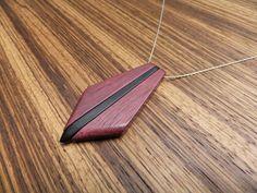 Purpleheart and ebony pendant.