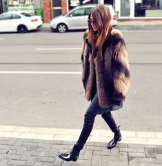 Glasses and boots are awesome! Coat is fabulous!