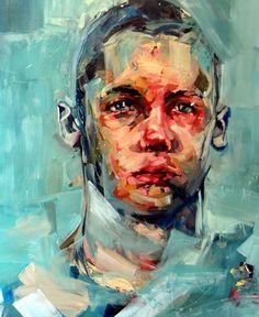 Andrew Salgado – Contemporary Modern Art – Portrait Kunst - All Around Art Pictures Art Inspo, Inspiration Art, Portrait Inspiration, Abstract Portrait, Portrait Art, Oil Painting On Canvas, Figure Painting, Acrylic Paintings, Painting Art