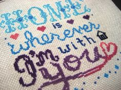 Home is wherever I'm with you  Cross Stitch Pattern by nuclearArt, $4.00