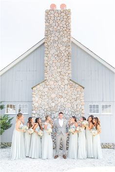 groom poses with 8 bridesmaids in mint gowns | Summertime Bonnet Island Estate wedding in Manahawkin NJ photographed by New Jersey wedding photographer Idalia Photography. Planning a classic summer wedding? Find inspiration here! #IdaliaPhotography #BonnetIslandEstateWedding #NYWedding #SummerWeddingIdeas Wedding Gallery, Wedding Photos, Mint Gown, Nj Wedding Venues, Groom Poses, Bridal Parties, Intimate Weddings, Summer Wedding, Bridesmaids