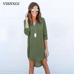 Cheap new dress, Buy Quality chiffon dress directly from China elegant dress Suppliers: VISNXGI Summer New Dresses 2017 Fashion Women Casual Loose Plus Size Elegant Dress Long Sleeve Irregular Chiffon Dress Vestidos Elegant Dresses, Casual Dresses For Women, Clothes For Women, Fashion 2017, Fashion Women, Cheap Fashion, Fashion Beauty, New Dress, Dress Long
