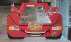 Marco de cabina de fotos de Disney Cars / rayo Mcqueen