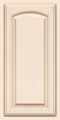 KraftMaid Cabinets -Arch Raised Panel - Veneer (AY) Maple in Canvas w/Cocoa  Glaze from waybuild