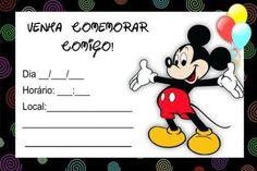 Convite do Mickey Mouse: Modelos para Imprimir e Editar, Como Fazer Mickey Party, Mikey, Location, Disneyland, Banner, Bernardo, Yuri, Baby Baby, Gabriel