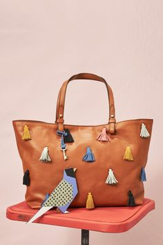 The leather Rachel tote with multicolor tassels. Could you ask for a better Valentine's Day gift?