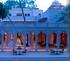 Outdoor terrace at Amanbagh in #India
