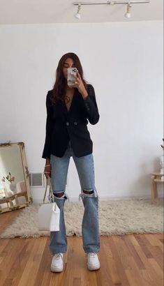 Adrette Outfits, Cute Casual Outfits, Fall Outfits, Summer Outfits, Blazer Outfits, Hippie Outfits, Looks Street Style, Looks Style, Fashion 2020