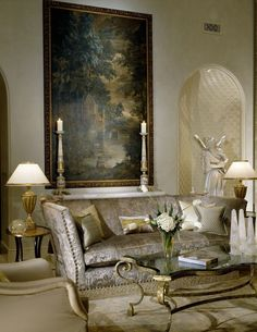 ♜ Shabby Castle Chic ♜ rich and gorgeous home decor - Slovack Bass - Living Room details