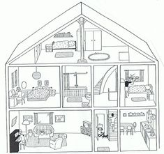 Pin by aga wiśniewska on angielski house colouring pages, ho French Lessons, Spanish Lessons, English Lessons, Spanish Classroom, Teaching Spanish, Teaching English, House Colouring Pages, Coloring Books, Coloring Pages