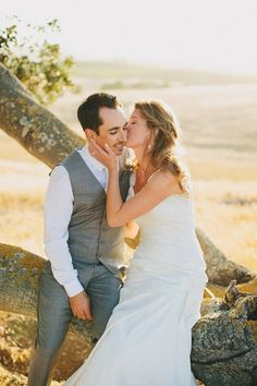 This bride and groom on their wedding day are so sweet! Lovely photos by Matthew Morgan Photography. For more of this stunning wedding check out the post!