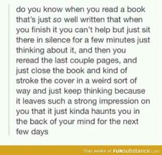 I love this feeling happened when I finished the mortal instruments, the hunger games, and Percy Jackson