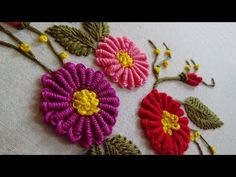 Hand Embroidery: Cone Bullion Knot Stitch - YouTube