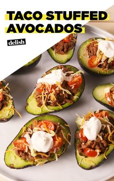 There's No Need For Tortillas With Taco Stuffed AvocadosDelish