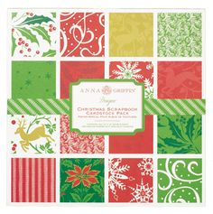 Anna Griffin - The Hannah Holiday Collection - Christmas - 12 x 12 Double Sided Cardstock Pack at Scrapbook.com $14.24