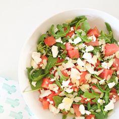 Zomerse watermeloen salade met geitenkaas