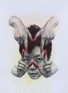 The Monstrous Drawings Of Seungyea Park Evoke Feelings Of fear Surreal Artwork, Creepy Pictures, Black Love Art, National Art, A Level Art, Korean Artist, Illustrations And Posters, Art Inspo, Art Reference
