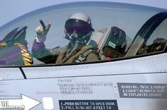 F-16 Cockpit Showing Thumbs Up