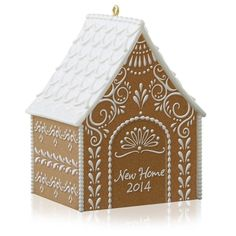 New Home 2014 Hallmark Ornament  Gingerbread House Candy  Icing  Birdhouse  Snow #Hallmark
