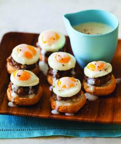 Breakfast Recipe Idea: Itty-Bitty Country-Style Eggs Benedict: Vitamin G    Baby Bennie's FTW