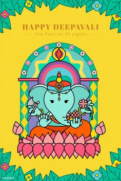 Ganesha Diwali festival background vector | premium image by rawpixel.com / Techi