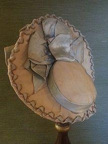 Wonderful Silk Bonnet for Bebe - Antique Silk (item #1279603)