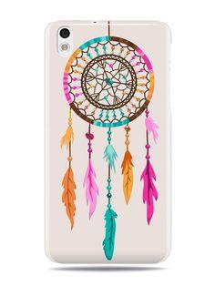 """GRÜV Case Design """"Atrapasueños indio nativo americano"""" - Diseñador Mejor Calidad de Impresión en Funda Carcasa Rigida Blanca - para HTC Desire 816 800:Amazon:Electrónica"""