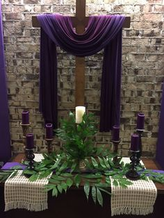 Love the draping on the cross / #altar #altardeco #draping #Easter / Via: https://s-media-cache-ak0.pinimg.com/originals/2b/08/70/2b0870f0bcc5d1d61abdee530dd42624.jpg