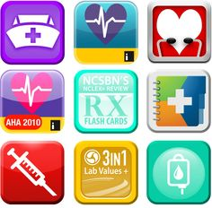 A collection of our favorite apps for nursing school! From iStudentNurse