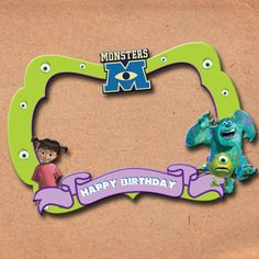 exzaiden's monsters inc photo booth frame