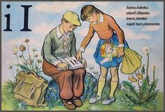 Learning About the Czech Alphabet Alphabet Words, English Alphabet, School Posters, Make A Donation, Textbook, Retro, Logos, Illustration, Montessori