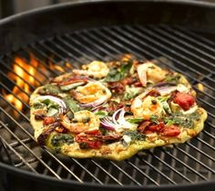 pizza on the grill-very tasty