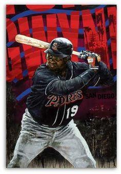 03d7f5419 Tony Gwynn Baseball Art, San Diego Padres, Captain America, Mlb, Athlete,