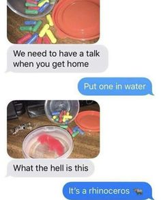 Rhinoceros pill in water - Funny Memes : Best collection of funniest memes around the world. Updated everyday so you'll always have fresh stock of funny memes. Funny Texts Jokes, Text Jokes, Crazy Funny Memes, Really Funny Memes, Stupid Funny Memes, Funny Laugh, Funny Tweets, Funny Relatable Memes, Hilarious
